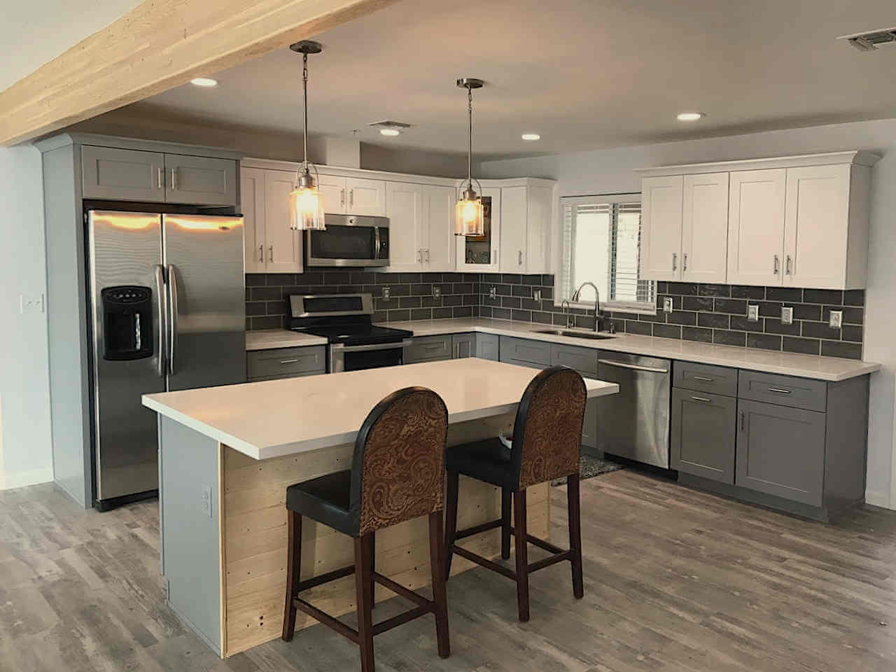 Scottsdale kitchen remodel- gray and white cabinets