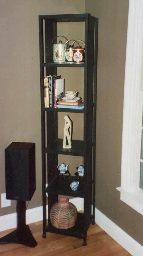 tall steel and wood shelves 3