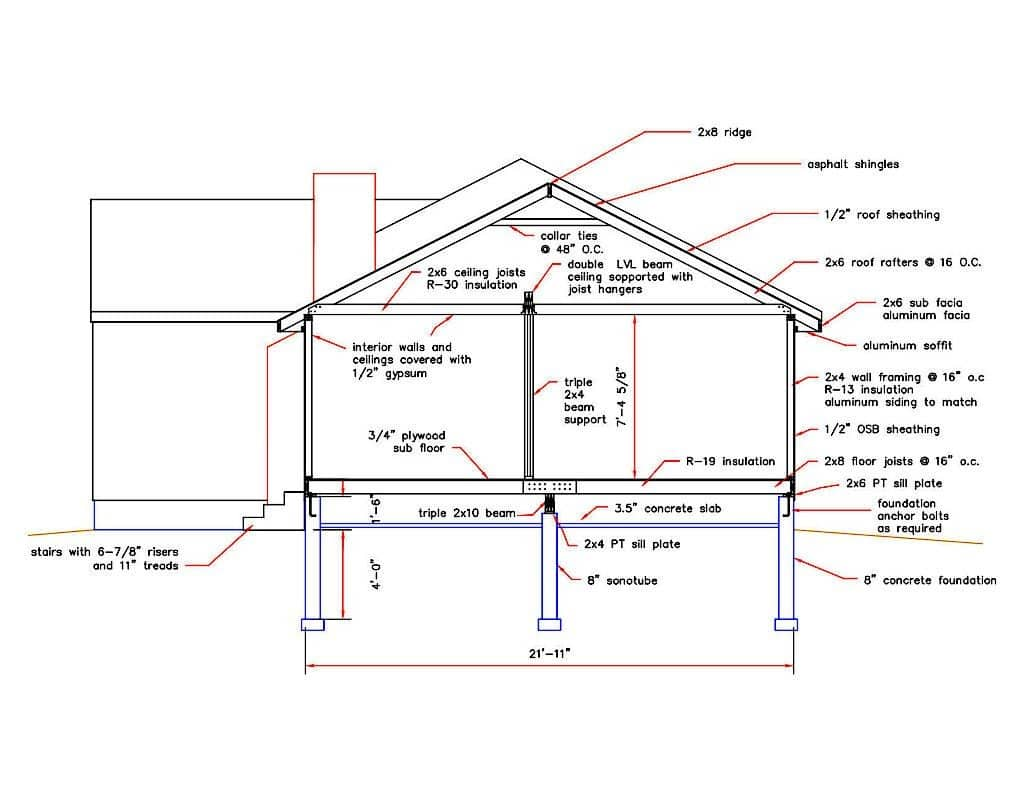 image of an addition design drawing