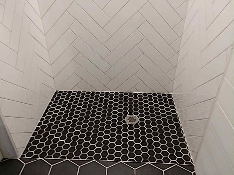 curbless shower hex floor tile 1024