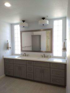 gray double vanity scottsdale bathroom