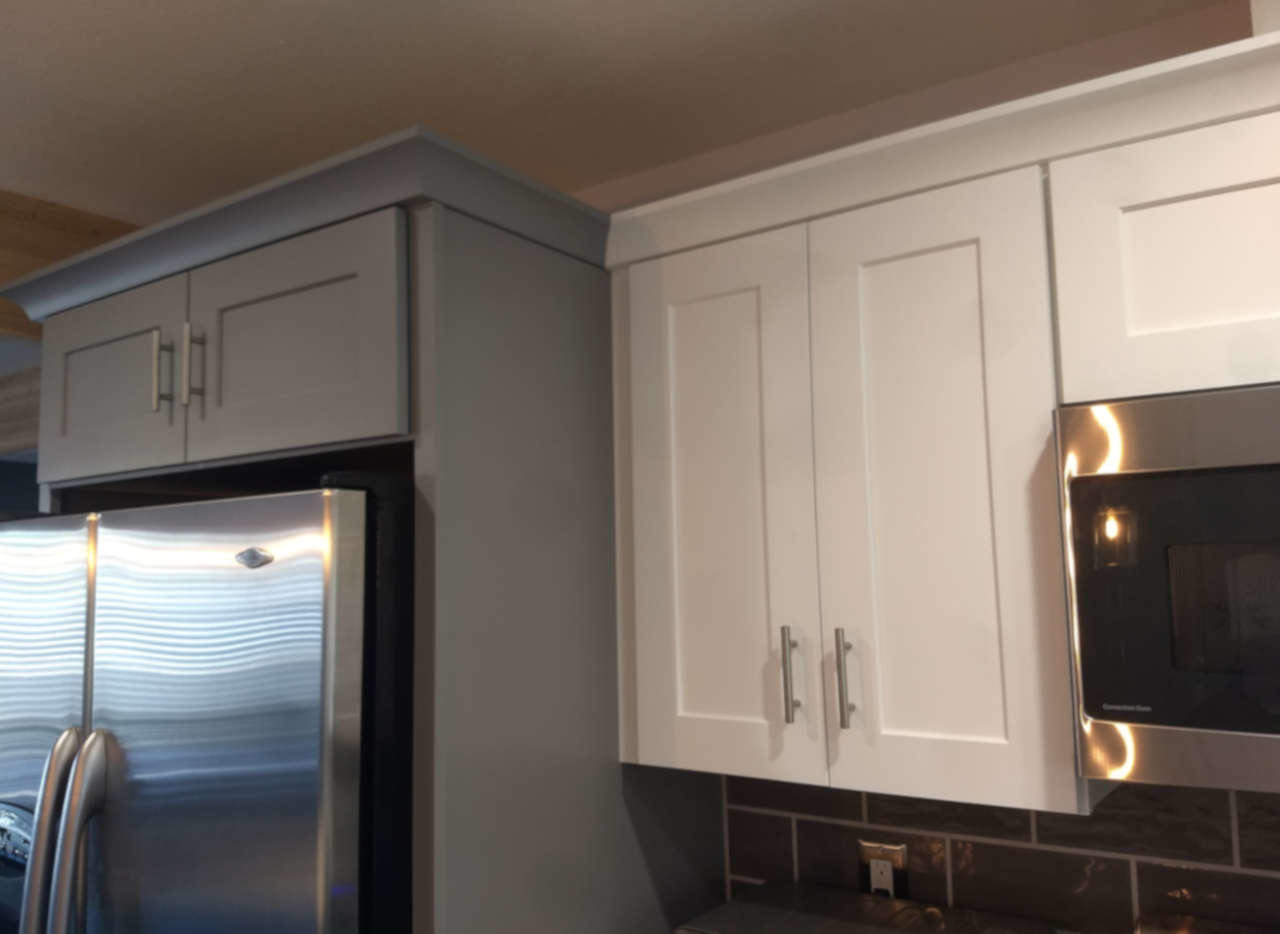 gray next to white cabinet sottsdale kitchen