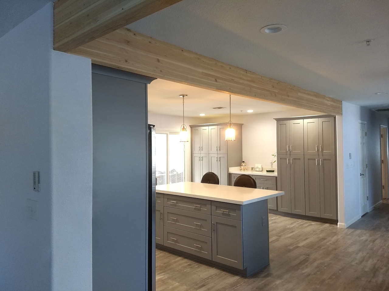 scottsdale kitchen remodel structural beams