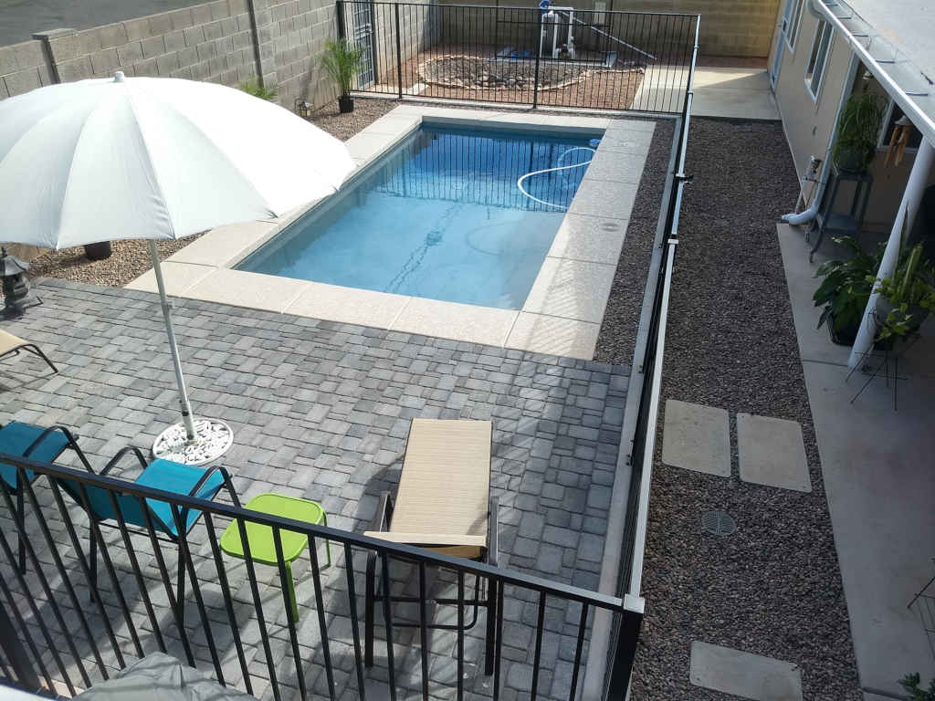 scottsdale modern pool after