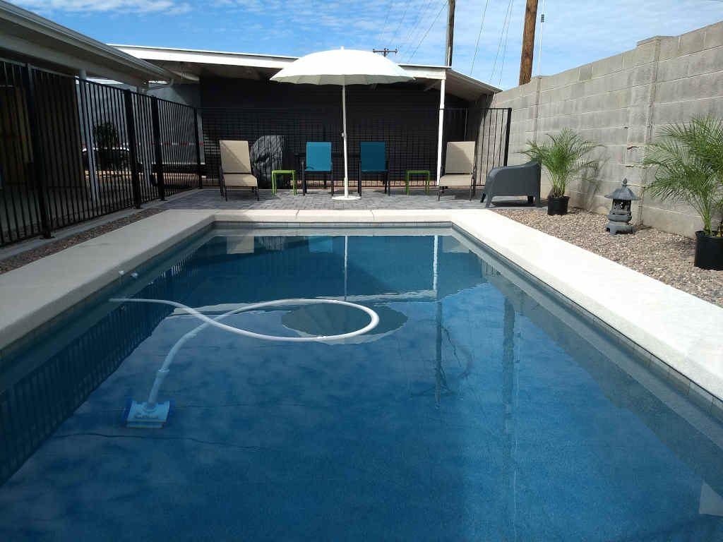 small modern pool in scottsdale