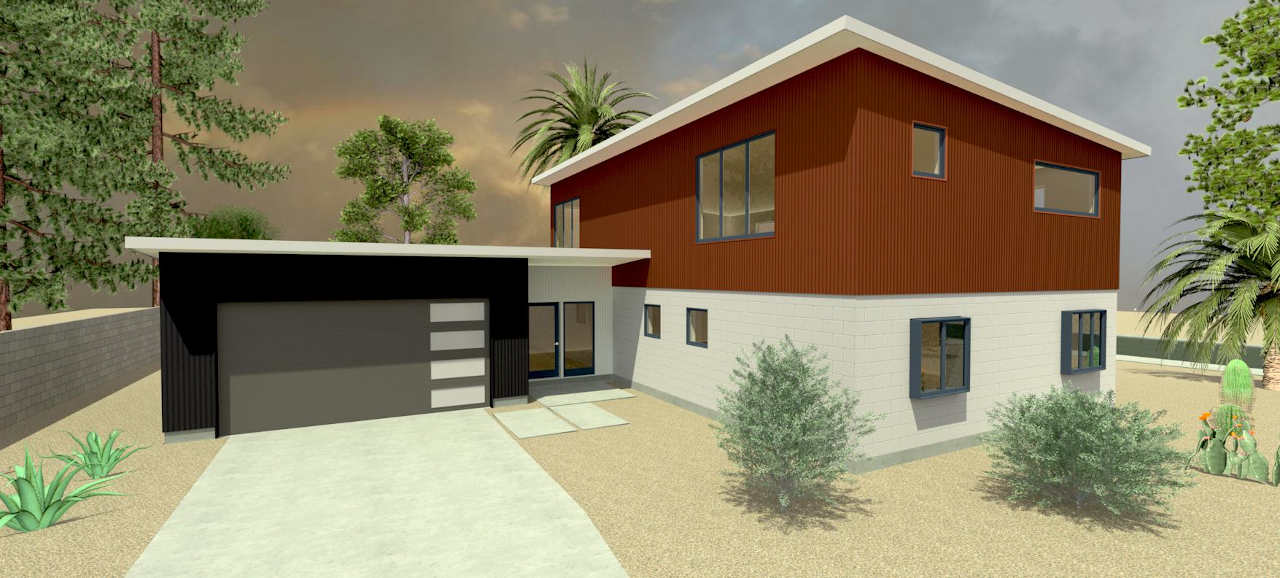 modern second story addition in phoenix