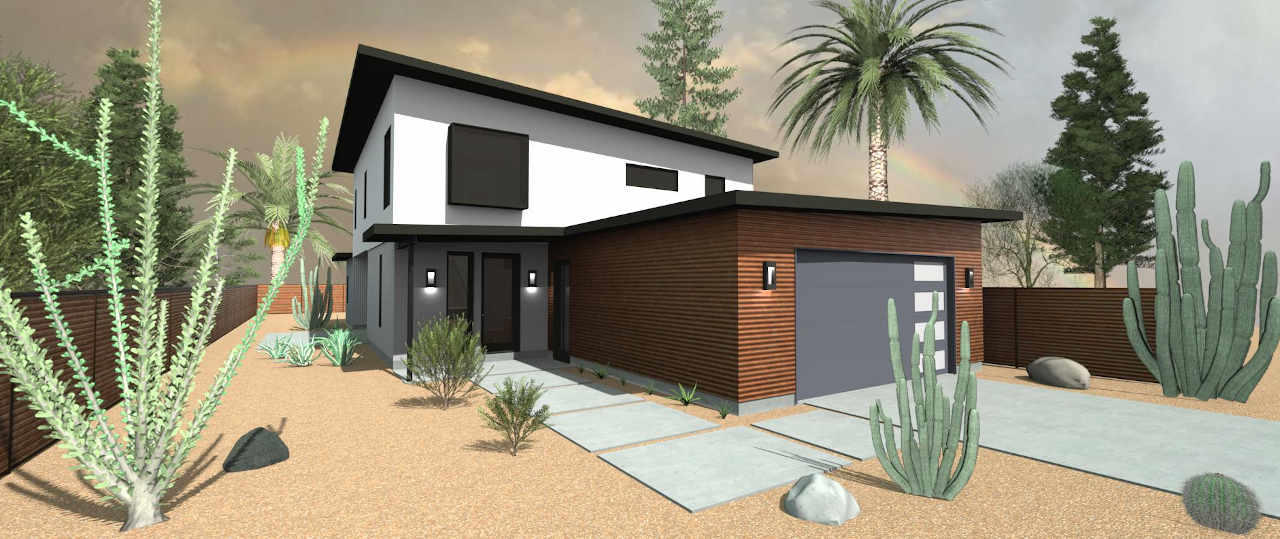 2 story modern house in scottsdale az
