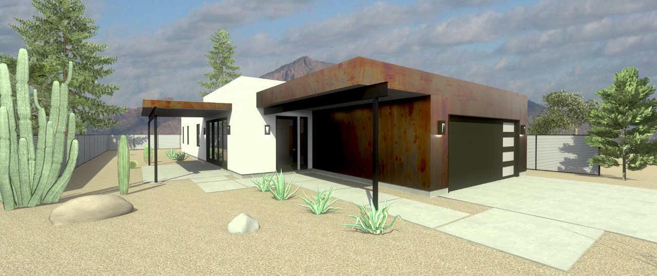 desert modern house in scottsdale