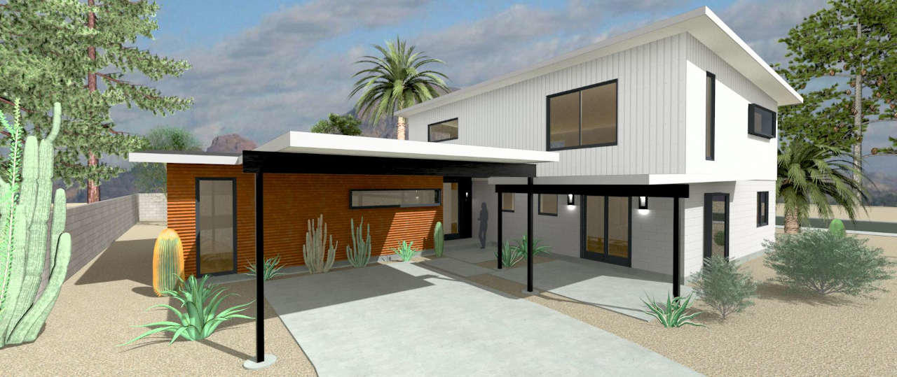 scottsdale modern house entrance design build