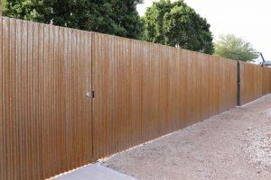 corrugated rustey steel fence installer scottsdale