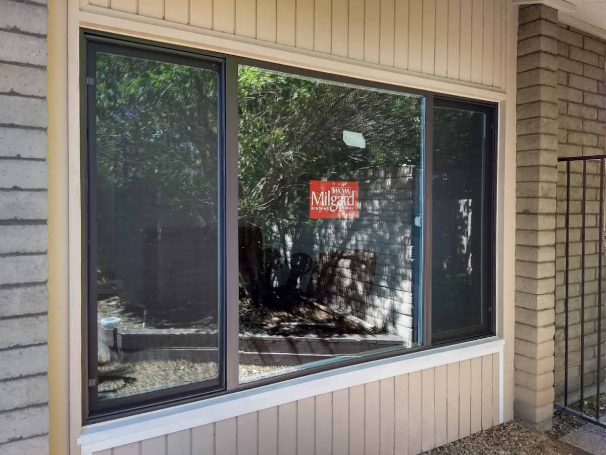 milgard picture window installation in scottsdale