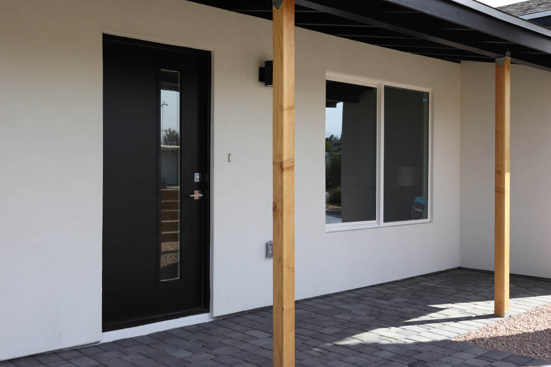 modern entry door instalation in arcadia phoenix az