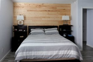 pine wood accent wall