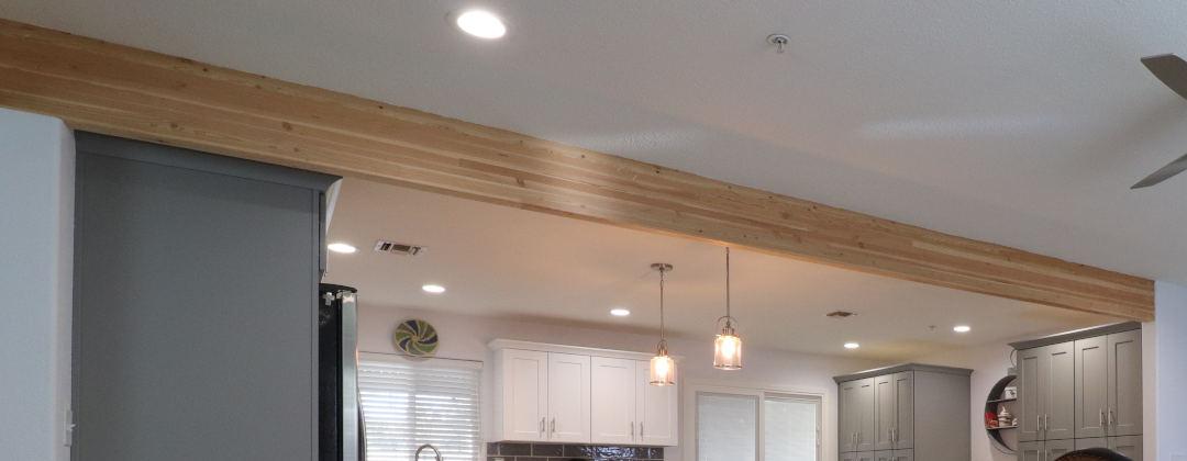 structural beam between kitchen living room