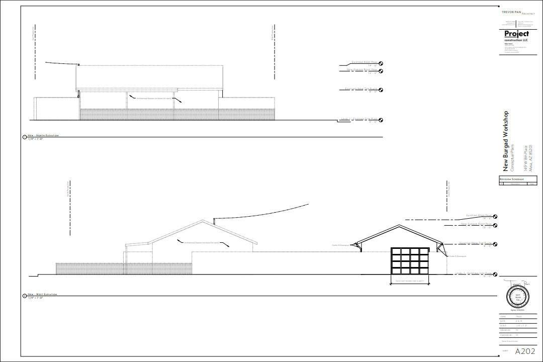garage design elevation drawing in phoenix